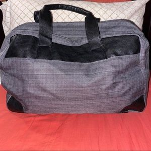 Grey and Black Overnight Bag